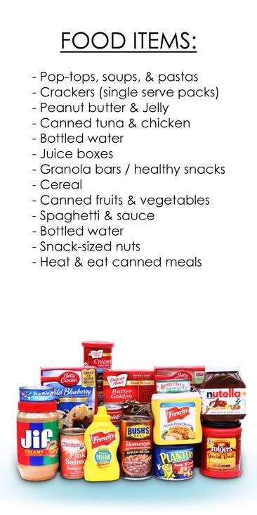 Food Items — Food Pantry