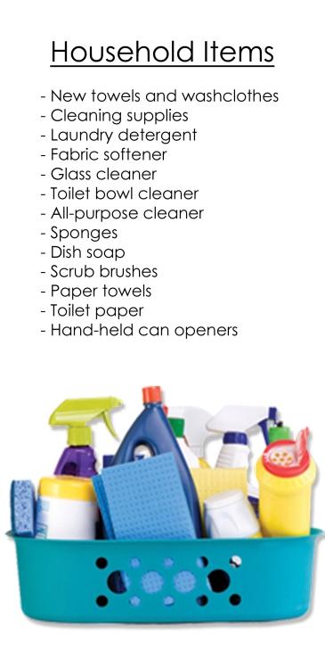 Household Items — Food Pantry